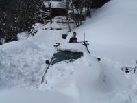 Audi eingeschneit